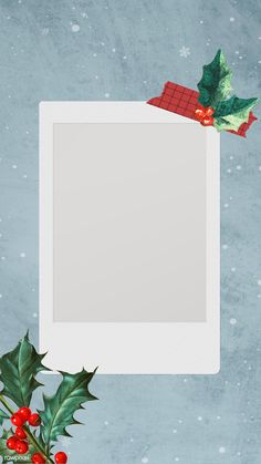 Festive blank Christmas film mobile wallpaper | premium image by rawpixel.com / Donlaya Marco Polaroid, Polaroid Frame Png, Polaroid Picture Frame, Polaroid Template, Instagram Background, Instagram Frame, Instagram Story, Cute Christmas Wallpaper, Picture Templates