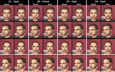 Mod The Sims - Defuglified Maxis faces - 27 CAS face replacements for all ages Sims 2, Face Template, Best Profile Pictures, Ugly Faces, How To Uninstall, Beauty Shop, The Body Shop, Cas, Genetics