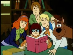 Scooby-Doo in the Library.
