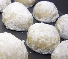 Russian Tea cake Cookies are known by many different names around the world. They always contain finely chopped nuts and are twice rolled in powdered sugar.