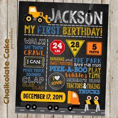PRINTABLE Construction Birthday Chalkboard  Dump by ChalkolateCake