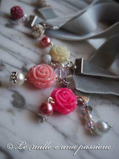 Segnalibri con charms rose