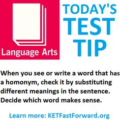 Today's Test Tip: Language Arts -         Repinned by Chesapeake College Adult Ed. We offer free classes on the Eastern Shore of MD to help you earn your GED - H.S. Diploma or Learn English (ESL) .   For GED classes contact Danielle Thomas 410-829-6043 dthomas@chesapeke.edu  For ESL classes contact Karen Luceti - 410-443-1163  Kluceti@chesapeake.edu .  www.chesapeake.edu