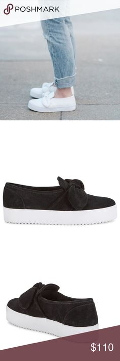 Rebecca Minkoff Stacey Slip-On Sneakers Suede Rebecca Minkoff Stacey Slip-On Sneakers A knot accent charms these comfy slip-on sneakers Black oiled suede Slip-on style Lined Rubber sole Padded insole Imported Rebecca Minkoff Shoes Sneakers