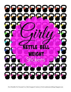 Free Printable Girly Kettle Bell Stickers for Planners Andrea Nicole Blogs