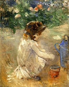 Berthe ianuarie 1841 - 2 pictorita impresionista franceza(I) Julie Manet, French Impressionist Painters, Vintage Seed Packets, Berthe Morisot, Mary Cassatt, Marc Chagall, Edouard Manet, Camille Pissarro, Reproduction