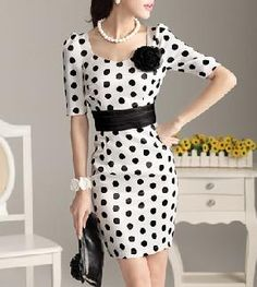 Retro Polka Dot Gorgeous Dress. So cute!!!!