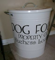 must make for the doggies!! need one of these for the animals food. otherwise the closet smells yucky.
