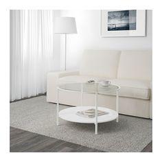 IKEA   VITTSJÖ, Couchtisch, Weiß/Glas, , Die Tischplatte Aus Gehärtetem Glas