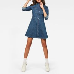 now on eboutic.ch - blue jeans dress for woman Jeans Dress, Denim Skirt, Shirt Dress, Pants, Blue Jeans, Denim Jeans, Blue Jean Dress, G Star Raw, Woman