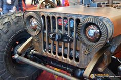 Differential ring gear headlight bezels. with a behind the grill winch.