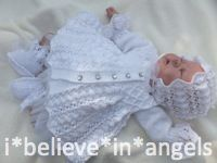 KNITTING PATTERN KSB 49 C*L*O*V*E*R .. 4 PIECE SET FOR A BABY GIRL OR REBORN DOLL