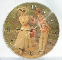 "MARY POPPINS Vinyl Record Clock - Walt Disney 12"" Picture Disc Record Album on Etsy, $38.97 CAD"