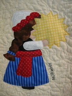 NORWAY Sunbonnet Sue block at MooseStash Quilting.  Design from International Sunbonnet Sue by Debra Kimball.