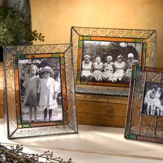 J. Devlin Pic 137 Series Glass Photo Frames - Vintage & Stained Glass make great #photoframes for framing all those colorful #summer #memories. The greens and oranges will go great with the green grass and fun bright colors of summer!