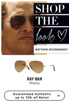 Sunglasses Have a perfect look with Ray-Ban Aviator Large Metal Sunglasses - GOLD Choose from Ray-Ban collections for variety of authentic Sunglasses Ray Ban Rb3025, Ray Ban Men, Gold Sunglasses, Matthew Mcconaughey, Eyeglasses, Aviation, Ray Bans, Amazing, Eyewear