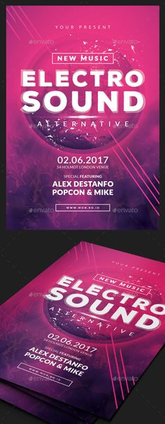 Electro Flyer Electro music, Font logo and Fonts - electro flyer