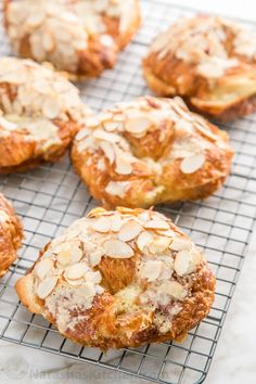 """These are delicious and easy to make.If you visit a classic French Bakery, you'll likely see these behind a shiny glass: """"Croissants aux Amandes"""" (aka Almond Croissants). Delicious and so Easy! Sicilian Recipes, Pastry Recipes, Baking Recipes, Sicilian Food, Almond Croissant, Croissant Recipe, French Patisserie, French Bakery, Homemade Croissants"""