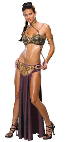 From rebel princess to slave of Jabba the Hutt, is there any look Princess Leia can't pull off? This Star Wars Princess Leia Slave Adult Costume is sure to make slaves of men and tyrants alike in this galaxy and those far, far away when you walk in the door.
