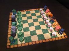 Minecraft paper chess.