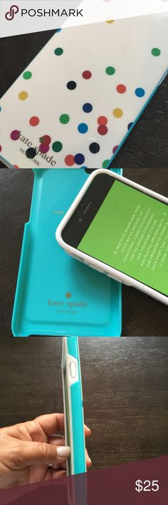 Kate spade hybrid case for iPhone 6/6s Brand new! 2-piece case. Hard shell resin exterior with rubber bumper interior to keep your phone protected.  This case is brand new  but no box. Kate Spade Accessories Phone Cases