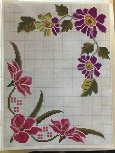 Cross Stitch Heart, Simple Cross Stitch, Cross Stitch Borders, Cross Stitch Flowers, Cross Stitch Designs, Cross Stitch Patterns, Crochet Doily Patterns, Embroidery Patterns, Cross Stitch Embroidery