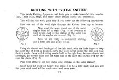Spool Knitter: SPOOL KNITTING INSTRUCTIONS