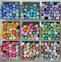 Copic Pens, Copics, Prismacolor, Copic Markers Tutorial, Marker Storage, Coloring Tutorial, Alcohol Markers, Marker Art, Card Tutorials