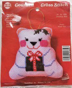 Christmas Bear counted cross stitch kit - Needle Magic Inc  no. 1659