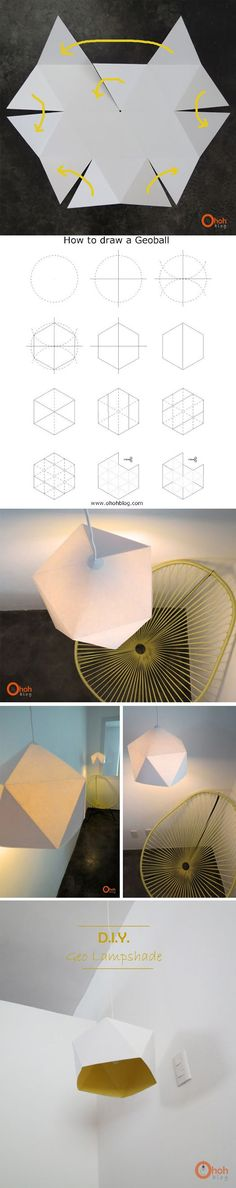 DIY Craft Ideas Diy lampe origami Transform Your Backyard Into A Taco Garden As A Fun Family Activit Diy Origami, Origami And Kirigami, Origami Paper, Diy Paper, Paper Crafts, Origami Lampshade, Origami Ball, Paper Lampshade, Paper Toys