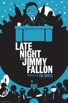 LATE NIGHT WITH JIMMY FALLON Cartoon Illustration by Ridge Rooms, via Behance