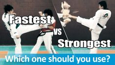 In this lesson, let's find out 2 different ways to use Taekwondo Roundhouse Kick, fast and strong and how to choose the right kick. Taekwondo Training, Roundhouse Kick, Round House, Kicks, Strong