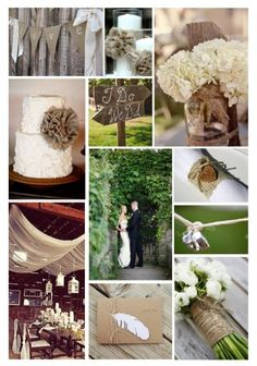 Burlap #rustic wedding inspiration  ... Wedding ideas for brides, grooms, parents & planners ... https://itunes.apple.com/us/app/the-gold-wedding-planner/id498112599?ls=1=8 … plus how to organise an entire wedding, without overspending ♥ The Gold Wedding Planner iPhone App ♥