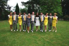A sunshine yellow wedding