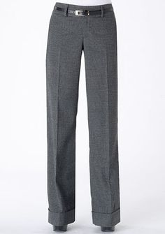Trousers - like the black tweed color