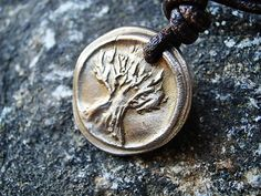 Tree of Life Hand Carved New Vintage Pendant Men or Women
