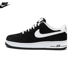 promo code 8ef2d 72dd2 Mens Nike Air Force One Low Basketball Shoes Black White 488298-064,Nike-