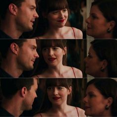 Christian, Ana & Mama Grey ♡