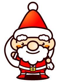 Santa Claus illustration 01 cute illustration Stock Illustration free material of Puchitchi