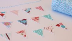 Bunting etc . - A Spoonful of Sugar Mini Bunting, Sugar Spoon, Brand Packaging, Shades Of Red, Twine, Color Schemes, Diy And Crafts, Scrap, Crafty