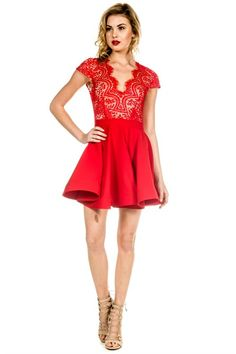 Party Time Dress - Red