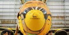 Airplane graffited by Os Gêmeos to the Brazil national football team - FIFA World Cup 2014.