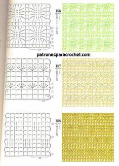 200 patrones crochet de puntos ✅ Knitting Stiches, Crochet Stitches Patterns, Crochet Motif, Stitch Patterns, Crochet Placemats, Crochet Instructions, Crochet Projects, Crafts, Yandex Disk