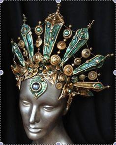 Vampire Queen Headdress Wire Frame Design with by geckomeister