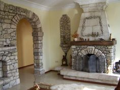 interior: Likable Natural Stone Fireplace Mantel With Fascinating High Fireplace Flue Design And Captivating Wall Stone Element Design - The Awesome Stone Fireplace Mantel: Never Let You Down, Homestoreky.com - Best Interior Design and Decorating Ideas