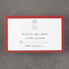 Dinner Setting - Respond Card with Envelope. Save the Date. Rehearsal Dinner Invitations, Rehearsal Dinners, Engagement Invitation Cards, Dinner Sets, Party Items, Announcement, Envelope, Bright, Party Stuff