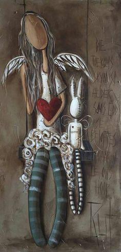 toekoms skyn so helder soos God se beloftes. ©Rut[][Rut Art/FB]Die toekoms skyn so helder soos God se beloftes. Kobold, Dibujos Cute, Angel Pictures, Angel Art, Mixed Media Art, Painting & Drawing, Stencil, Photo Art, Folk Art