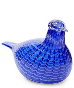 This ornamental bird designed by Toikka is individually handmade by iittala, a beautiful mouth-blown glass art object. Like its counterpart in nature, this unique bird has its own personality. House Ornaments, Blue Bird, Decorative Bowls, Random, Design, Home Decor, Decoration Home, Room Decor, Interior Design