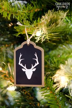 DIY Christmas Tag Ornaments