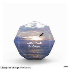 Courage To Change Acrylic Award